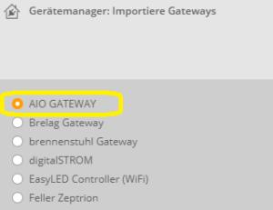 Gateway integrieren