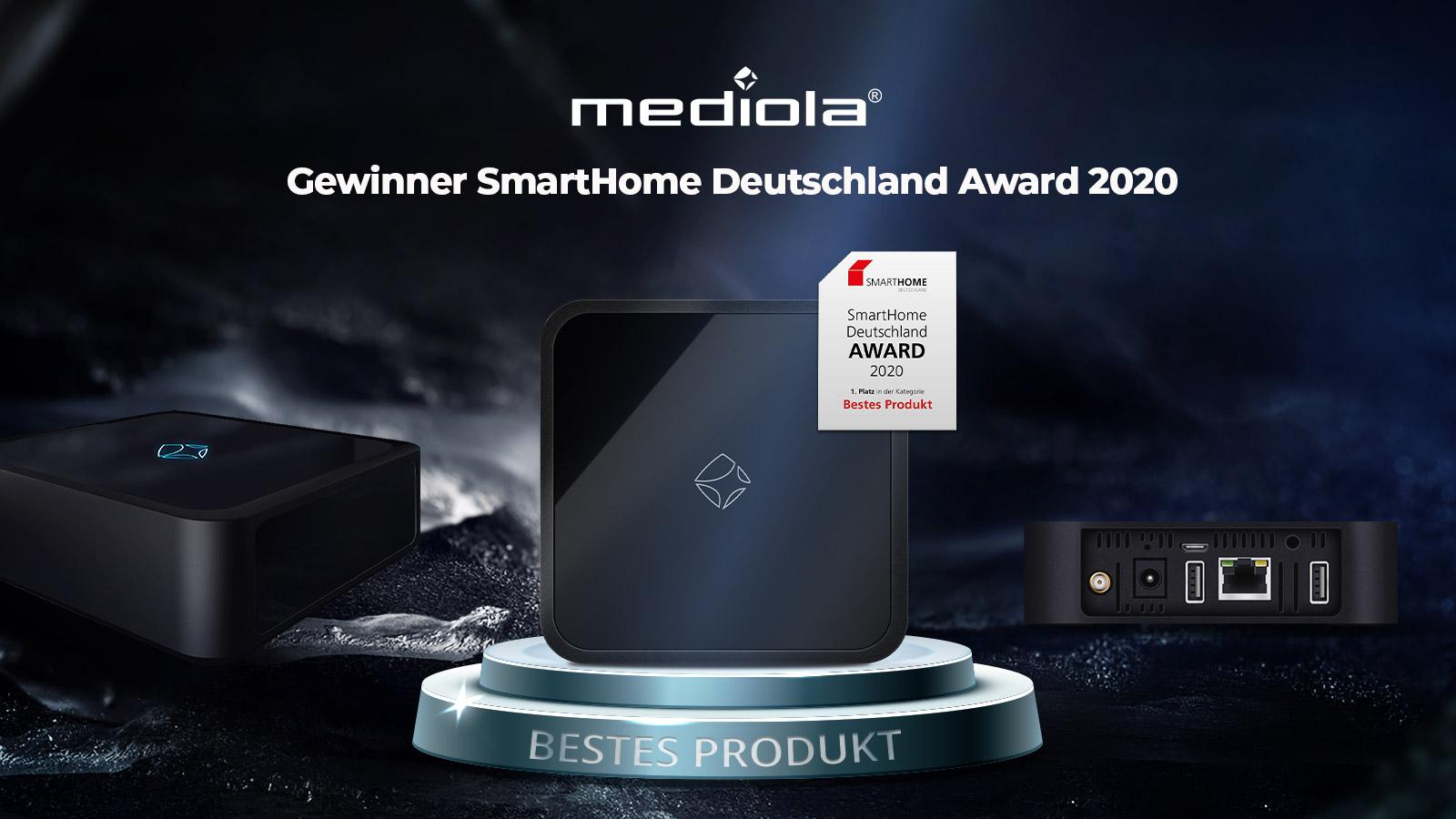 mediola gewinnt SmartHome Deutschland Award 2020 in der Kategorie Bestes Produkt